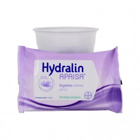 Hydralin apaisa lingettes intimes extrait lotus 10 lingettes